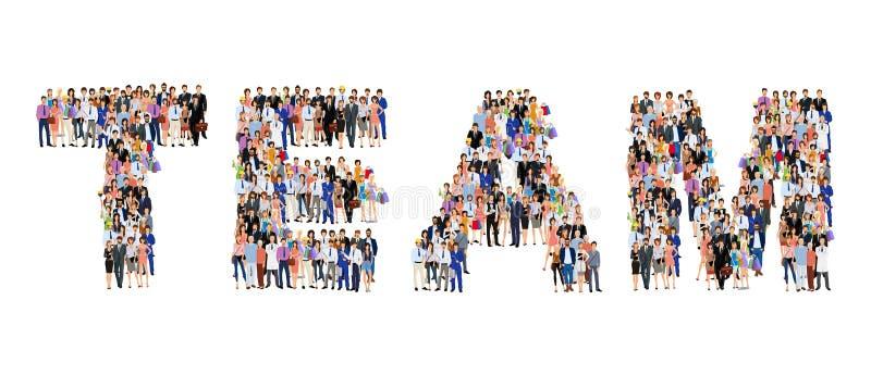 Groupe de personnes l'affiche d'équipe illustration libre de droits