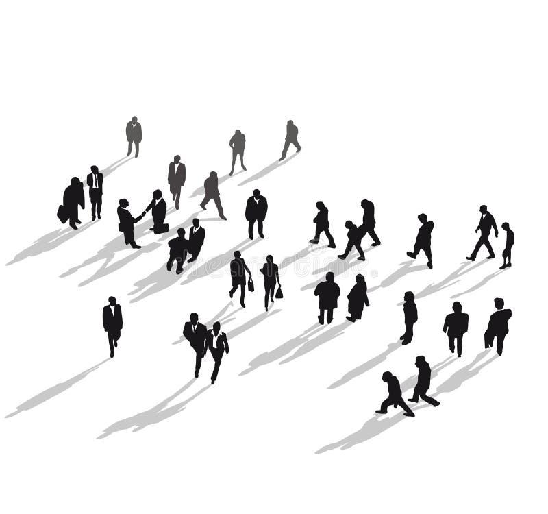 Groupe de personnes marche illustration stock