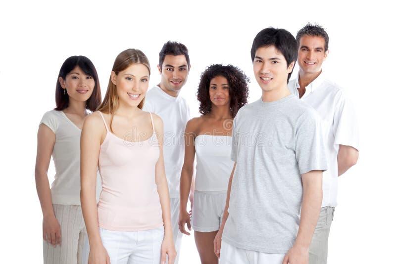 Groupe de personnes multi-ethnique images stock