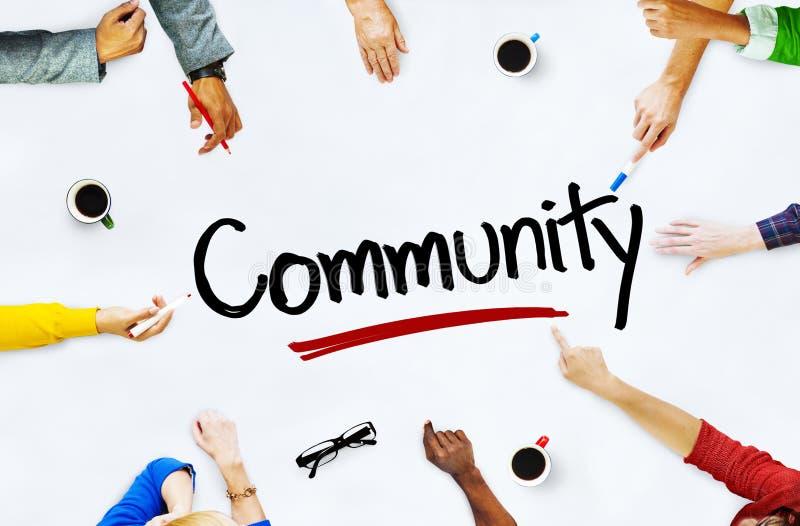 Groupe de personnes multi-ethnique concepts et de la Communauté images stock