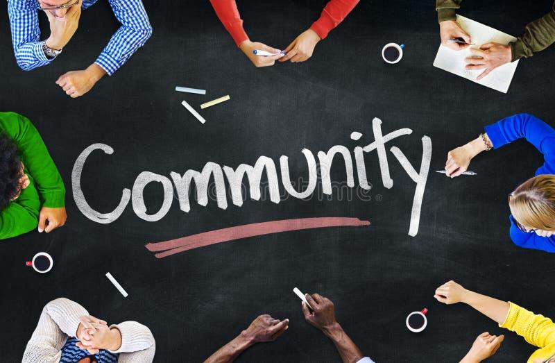 Groupe de personnes multi-ethnique concepts et de la Communauté photo libre de droits