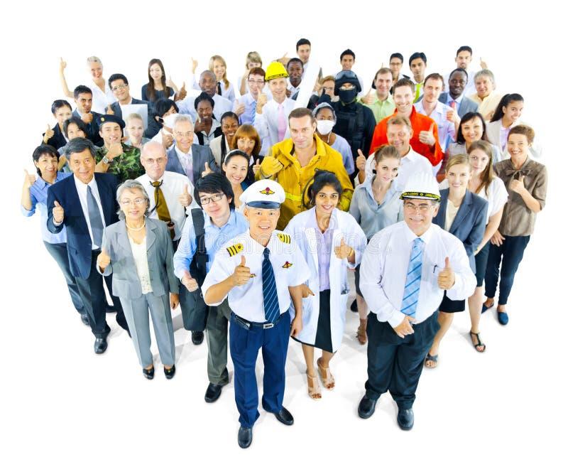 Groupe de personnes multi-ethnique dans la profession de variété photos libres de droits