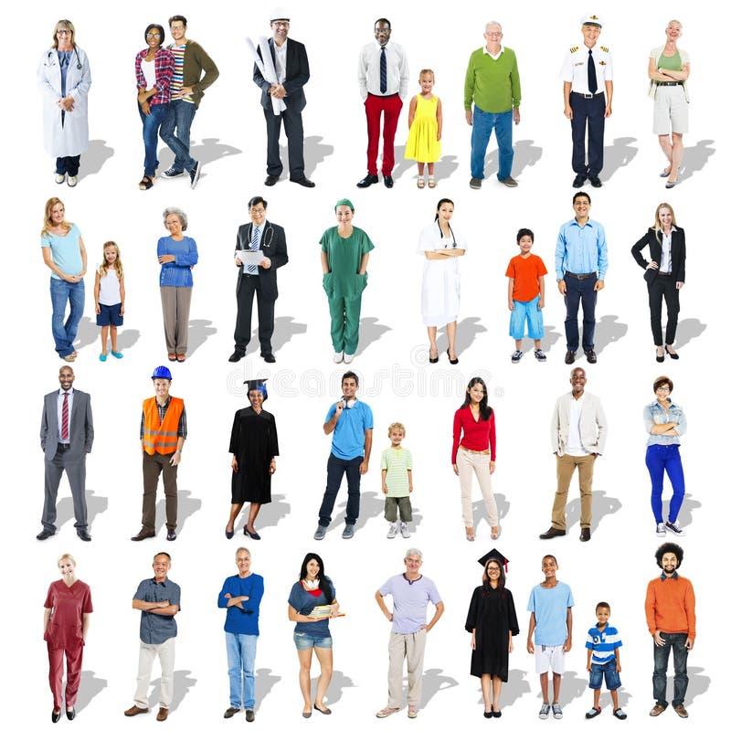 Groupe de personnes multi-ethnique divers avec la profession professionnelle photos stock