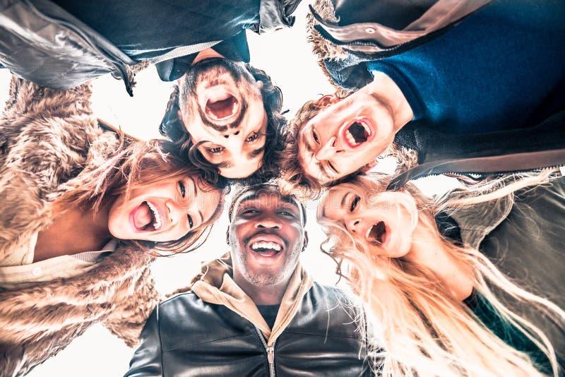 Groupe de personnes multiculturel photo stock