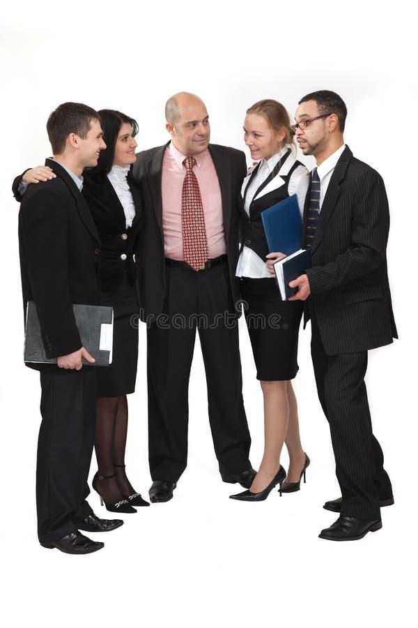 Groupe de personnes parler photographie stock