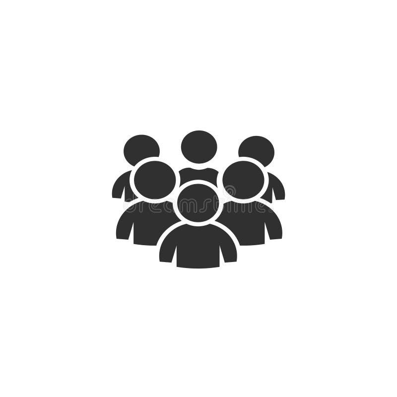 Groupe de personnes, vecteur d'icône photographie stock libre de droits