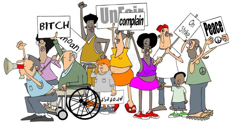 Groupe de protestataires illustration libre de droits