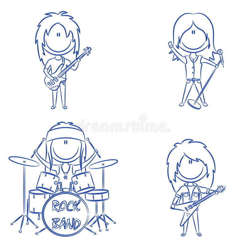 Groupe de rock illustration stock