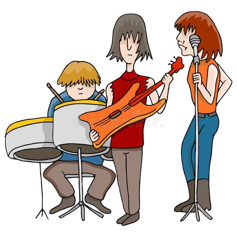 Groupe de rock illustration stock