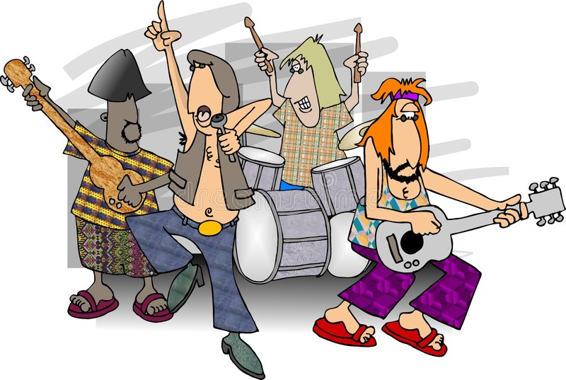 Groupe de rock illustration de vecteur