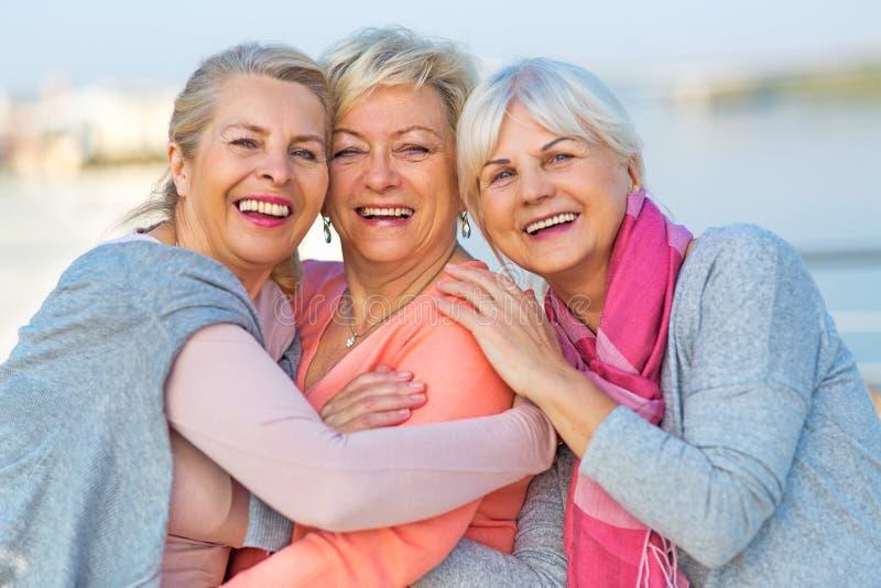 Groupe de sourire supérieur de femmes photo libre de droits