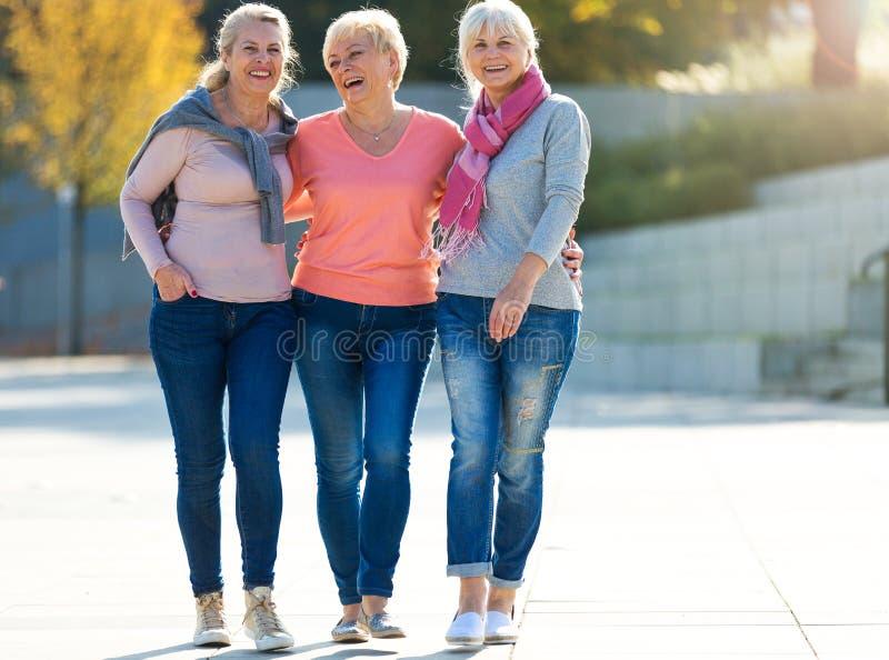 Groupe de sourire supérieur de femmes photos stock