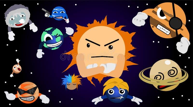 Groupe de système solaire illustration libre de droits