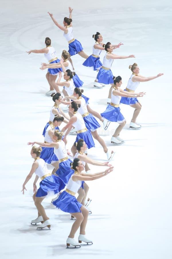 Groupe de Team Zagreb Snowflakes Senior photographie stock libre de droits