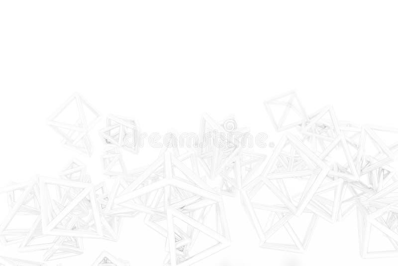 Groupe de triangle ou de place, vol, enclench?, pour la texture de conception et le fond rendu 3d illustration de vecteur