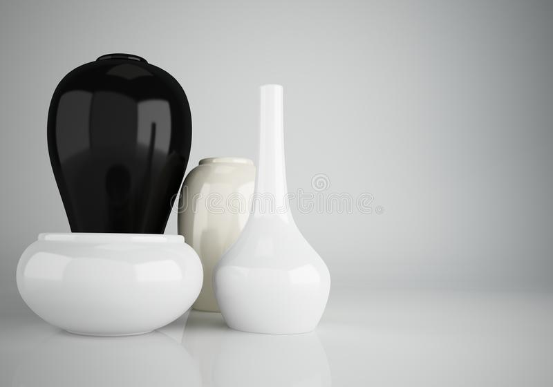 Groupe de vases en céramique illustration libre de droits