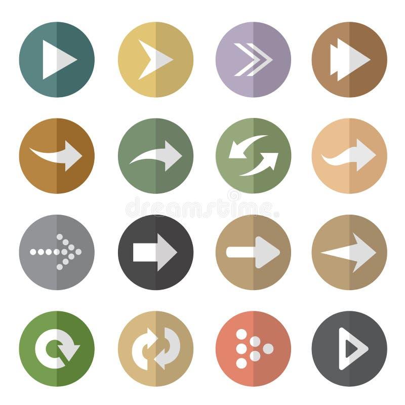 Groupe de vecteur de flèche en cercle illustration stock