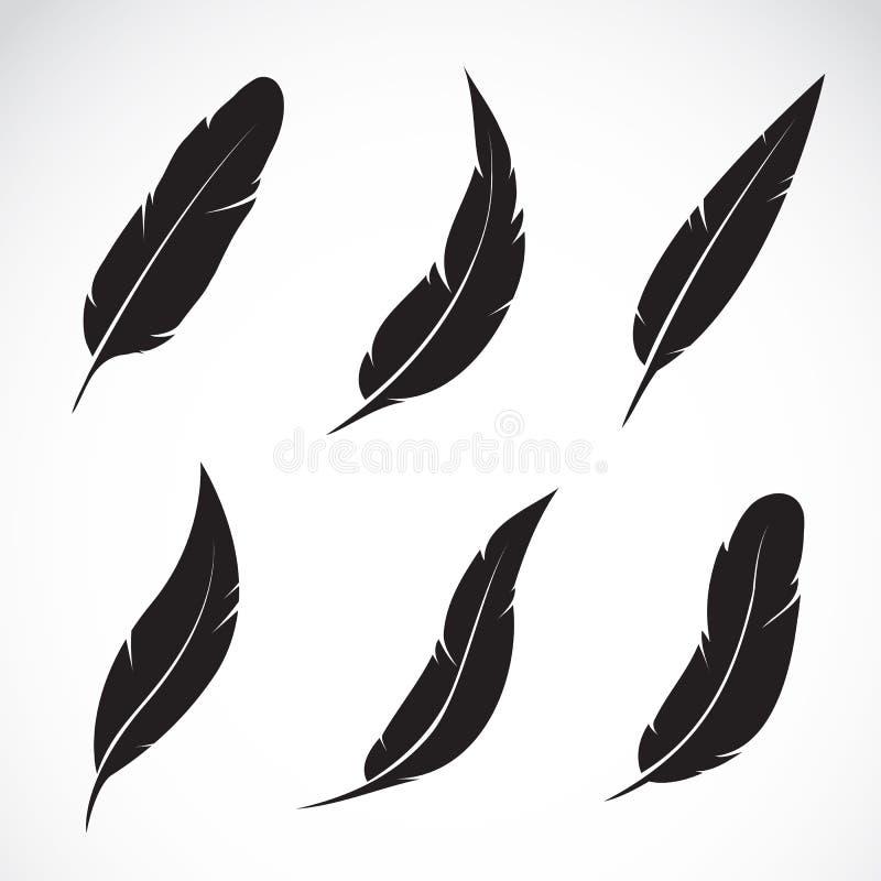Groupe de vecteur de plume illustration stock