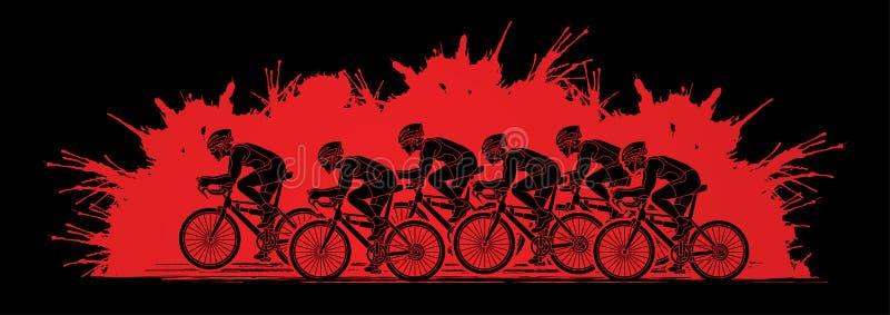 Groupe de vecteur graphique de emballage de bicyclette illustration libre de droits