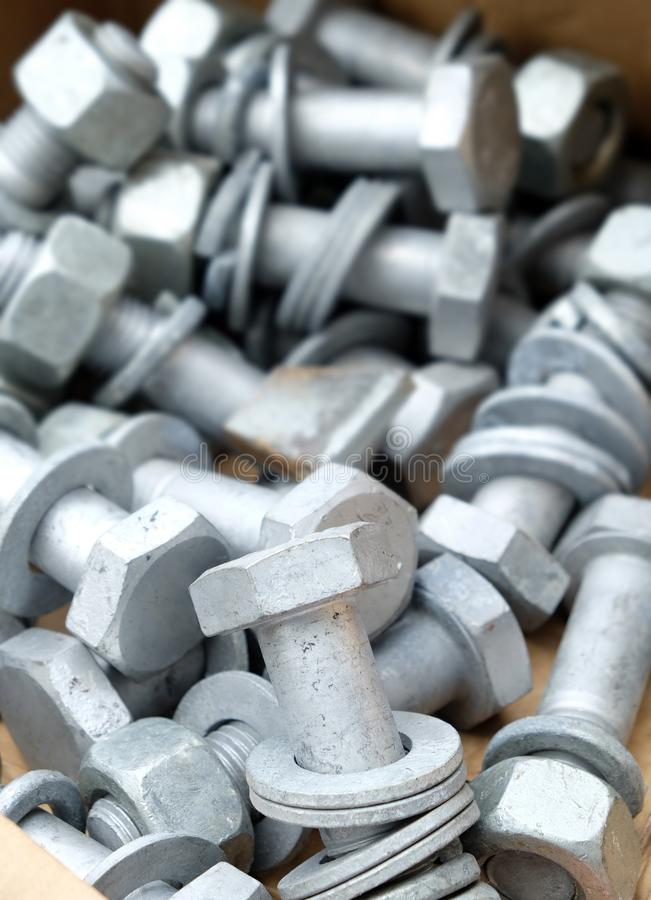 Groupe de vis en métal images stock