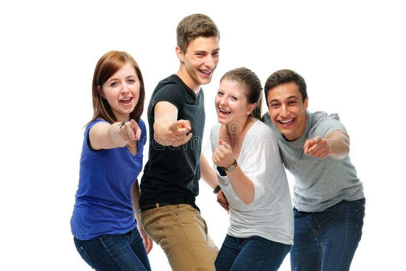 Groupe des étudiants universitaires photo libre de droits