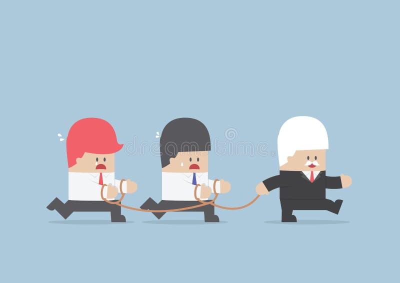 Groupe des affaires slave après homme d'affaires Leader illustration de vecteur