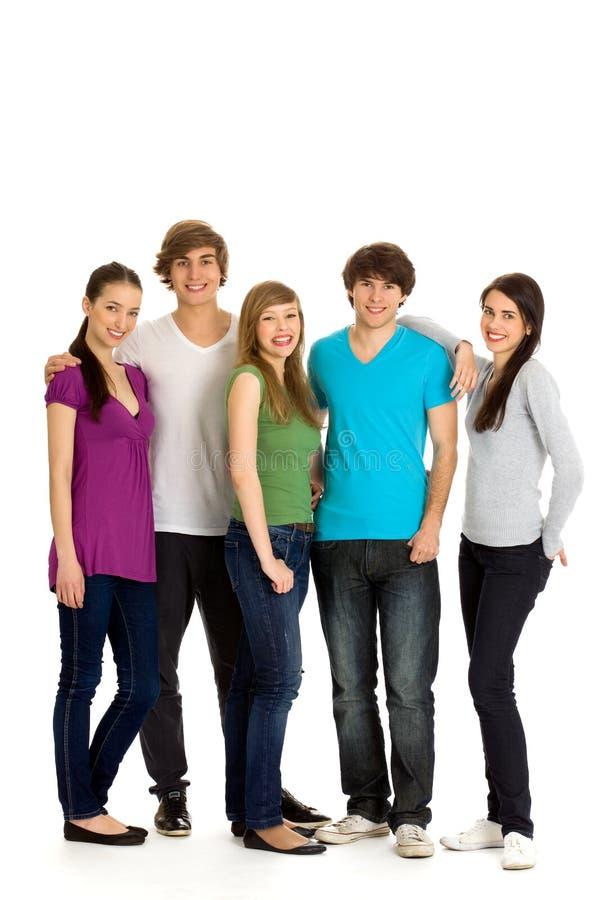 Groupe des jeunes image stock