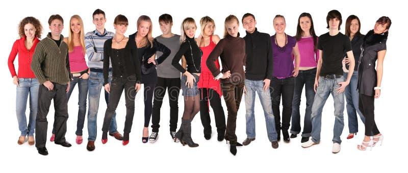 Groupe des seize jeunes photos stock