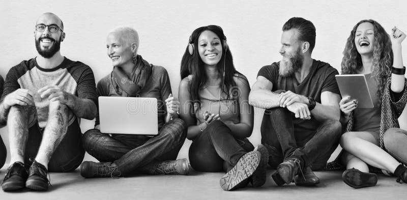 Groupe divers Team Together Trendy Concept d'amis photos libres de droits