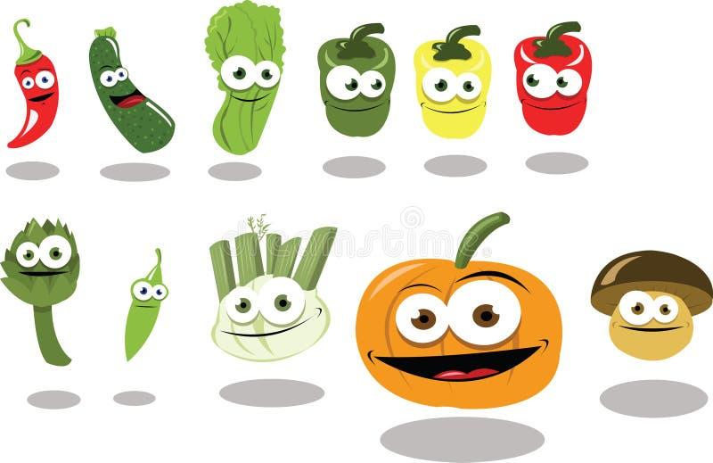 Groupe drôle de la partie de légumes illustration libre de droits