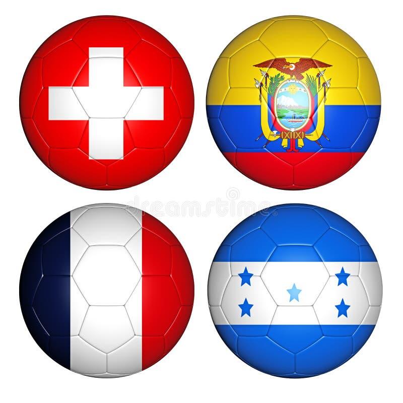 Groupe E de la coupe du monde 2014 illustration de vecteur
