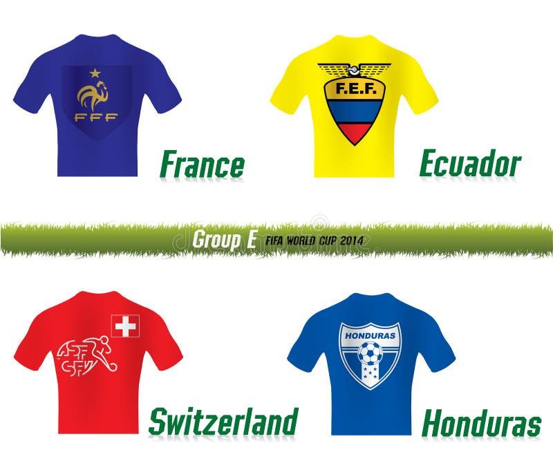 Groupe E de la coupe du monde de Fifa 2014 illustration stock