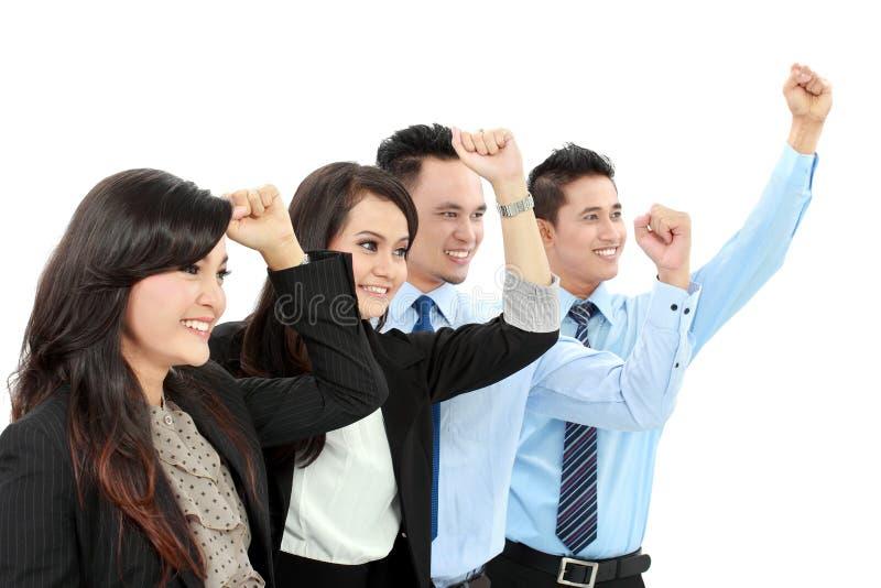Groupe Excited de gens d'affaires image libre de droits