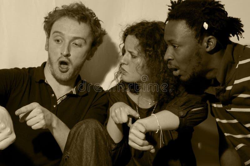 Groupe expressif et drôle photo libre de droits