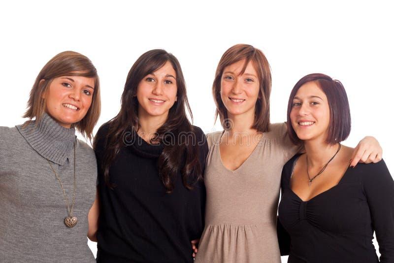 Groupe féminin heureux image libre de droits