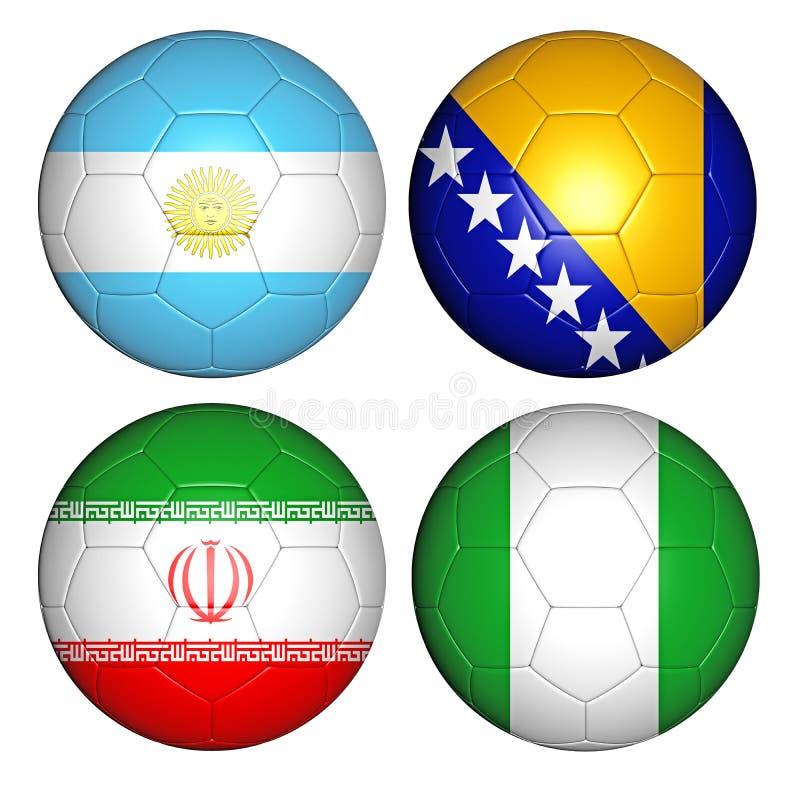 Groupe F de la coupe du monde 2014 illustration stock