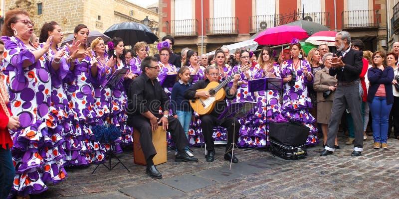 Groupe folklorique andalou. photo libre de droits