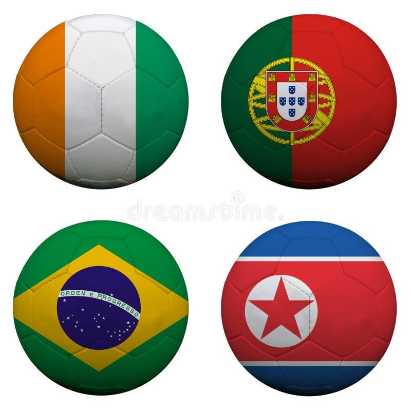 Groupe G de coupe du monde illustration libre de droits