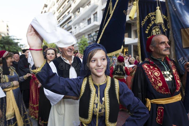 Groupe grec de folklore image libre de droits