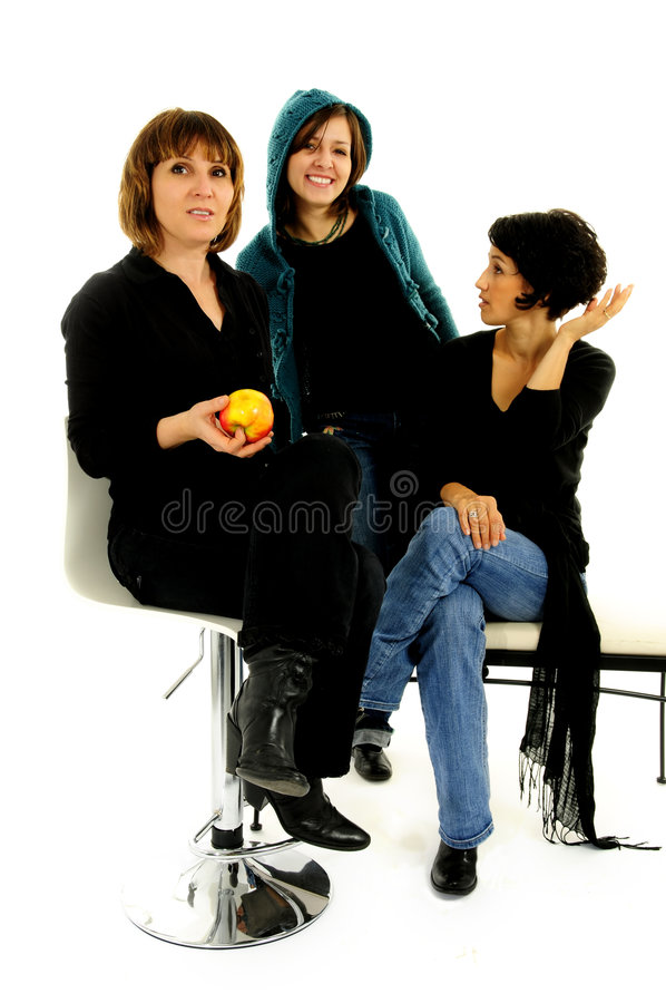 Groupe heureux d'amis photos libres de droits