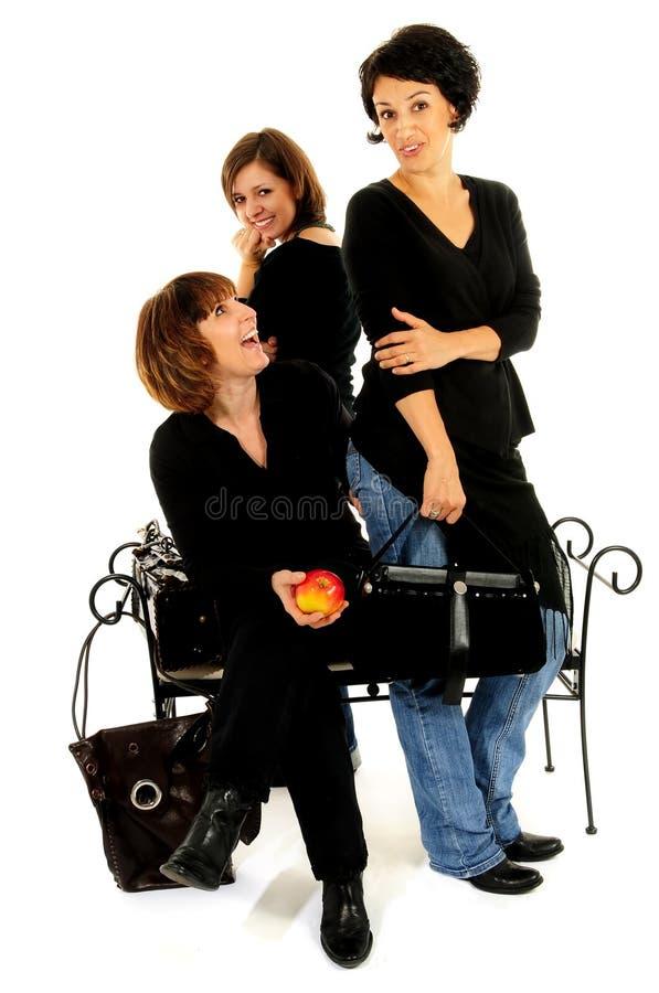 Groupe heureux d'amis photographie stock