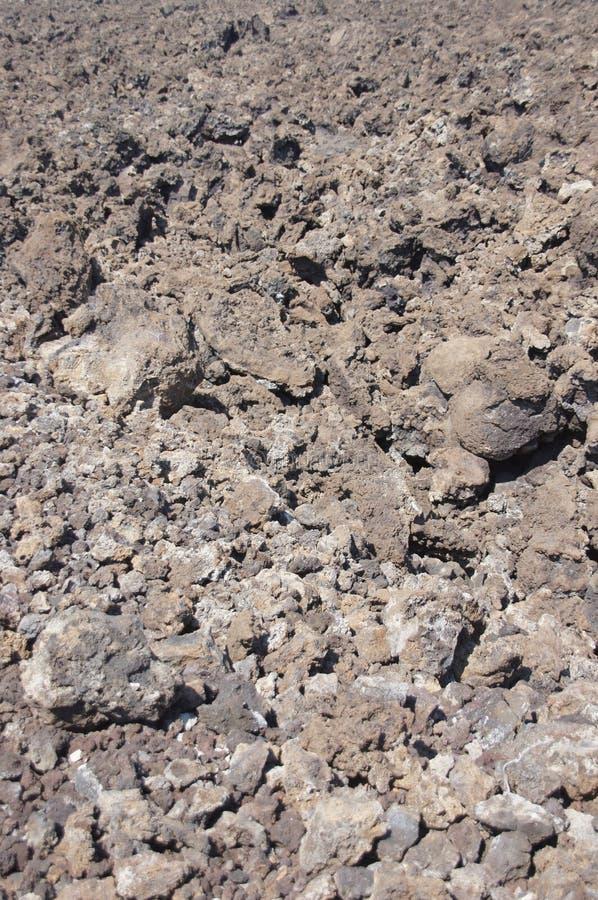 Groupe, lave rugueuse d'éruption volcanique antique, image libre de droits