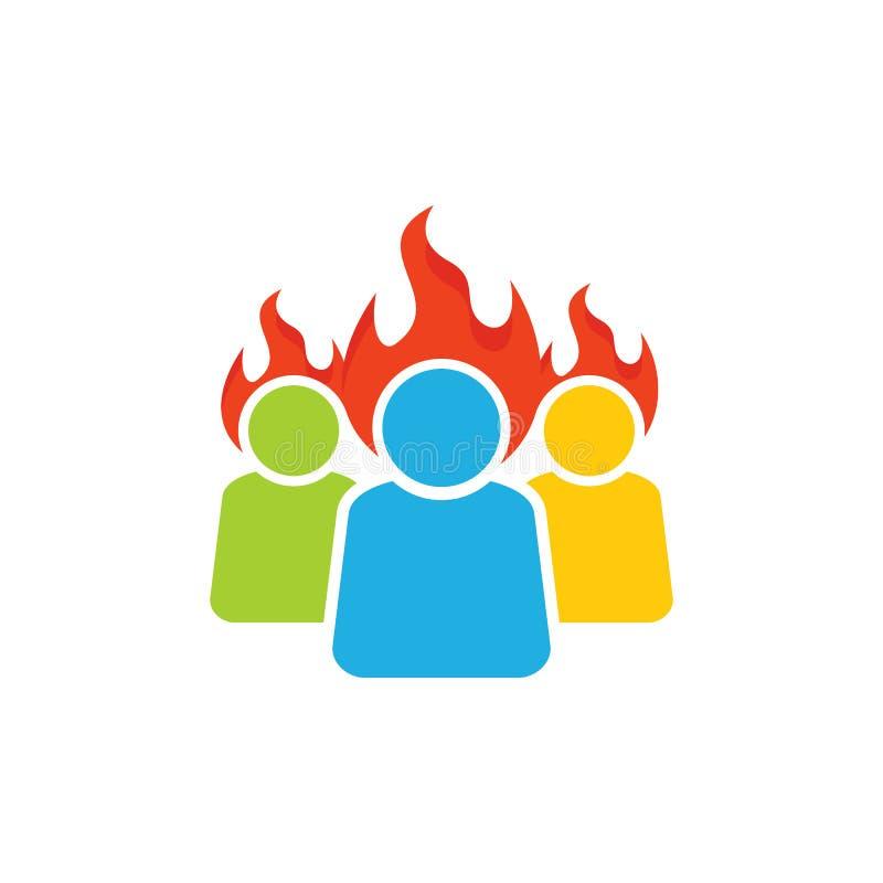Groupe Logo Icon Design de brûlure illustration libre de droits