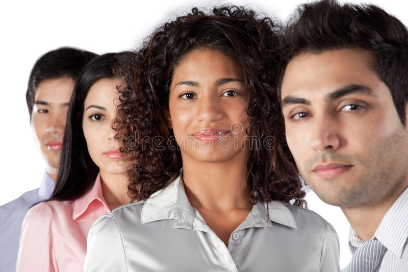 Groupe multi-ethnique d'hommes d'affaires photo stock