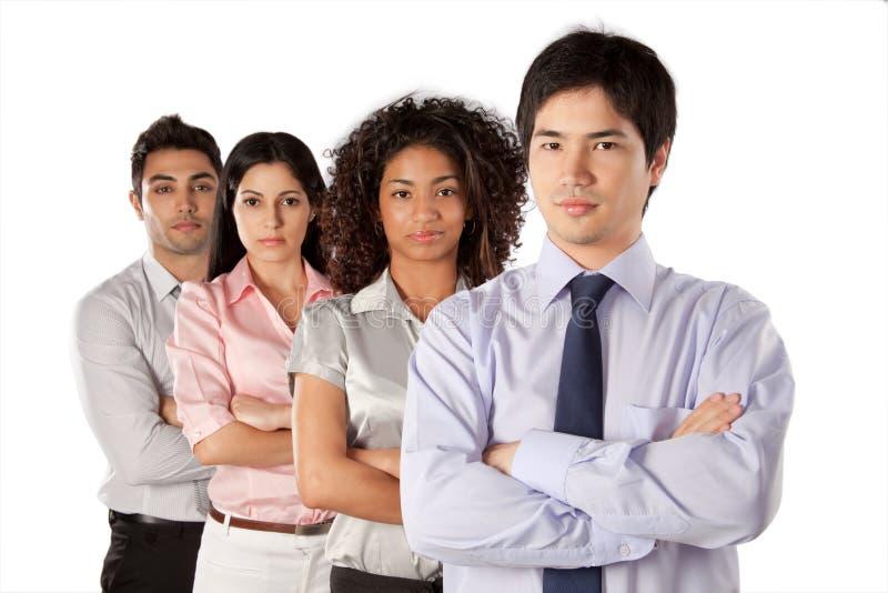 Groupe multi-ethnique d'hommes d'affaires images libres de droits