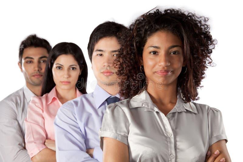 Groupe multi-ethnique d'hommes d'affaires image stock