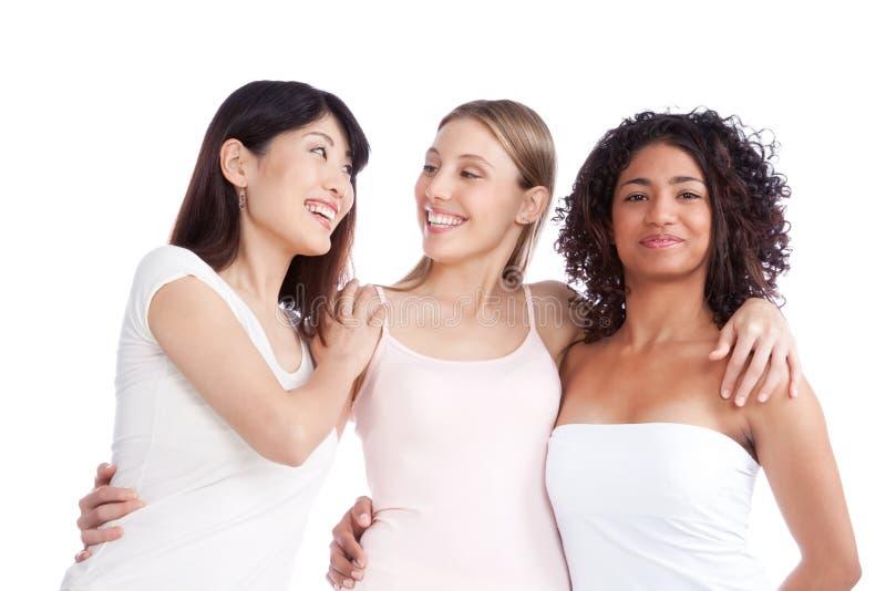 Groupe multi-ethnique de femme photographie stock libre de droits
