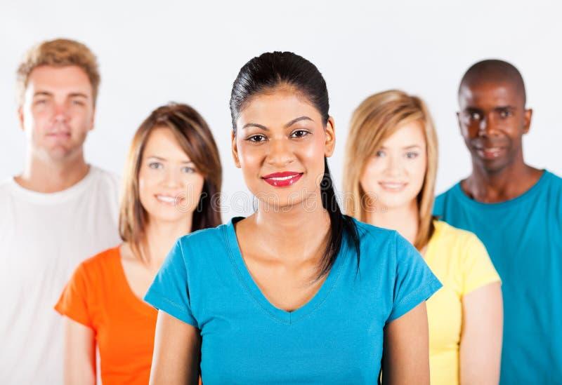 Groupe multiracial de gens images libres de droits