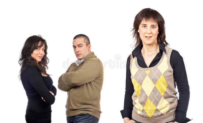 Groupe occasionnel photo stock
