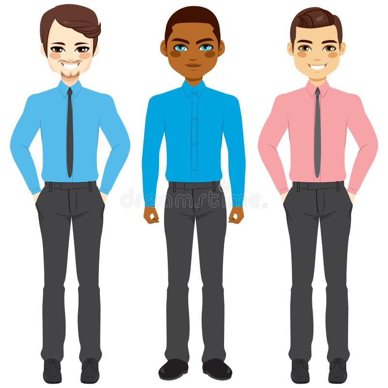 Groupe occasionnel d'hommes d'affaires illustration de vecteur
